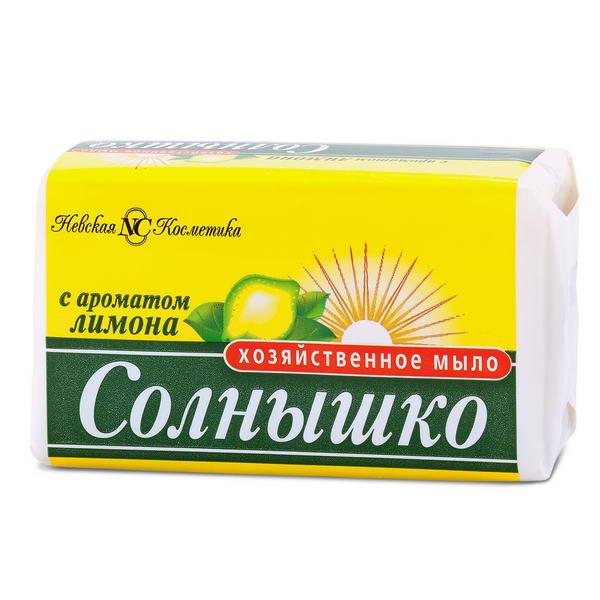 Мыло хозяйственное Солнышко Лимон 140 г