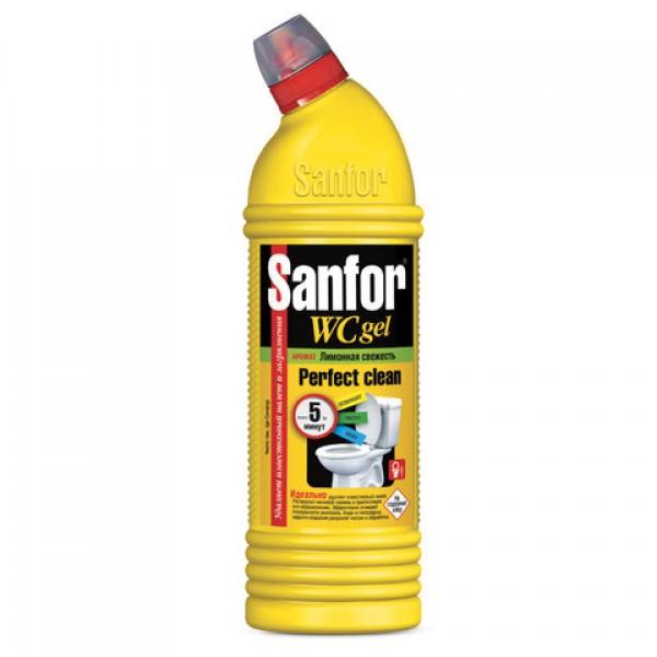Гель для унитаза Sanfor Лимонная Свежесть 750г