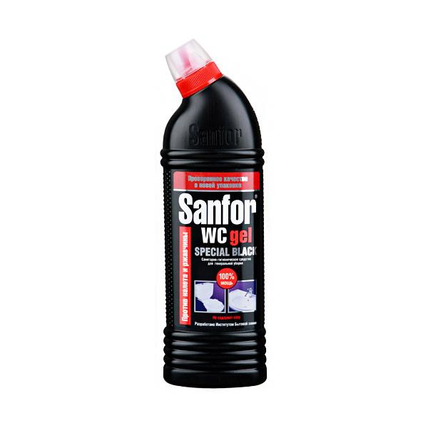 Гель для унитаза Sanfor Speсial Black 750г