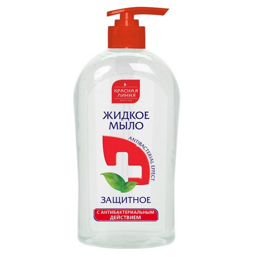Жидкое мыло Красная линия Антибактериальное 520 г