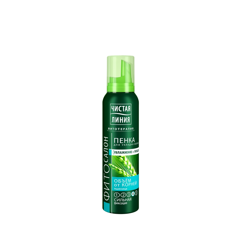 Пенка для волос Чистая линия Объем от корней Пшеница СФ №4 150 мл
