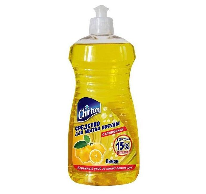 Средство для мытья посуды Чиртон Лимон 500 + 75 мл