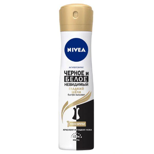 Дезодорант-спрей Нивея Гладкий шелк Невидимый для черного и белого 150мл