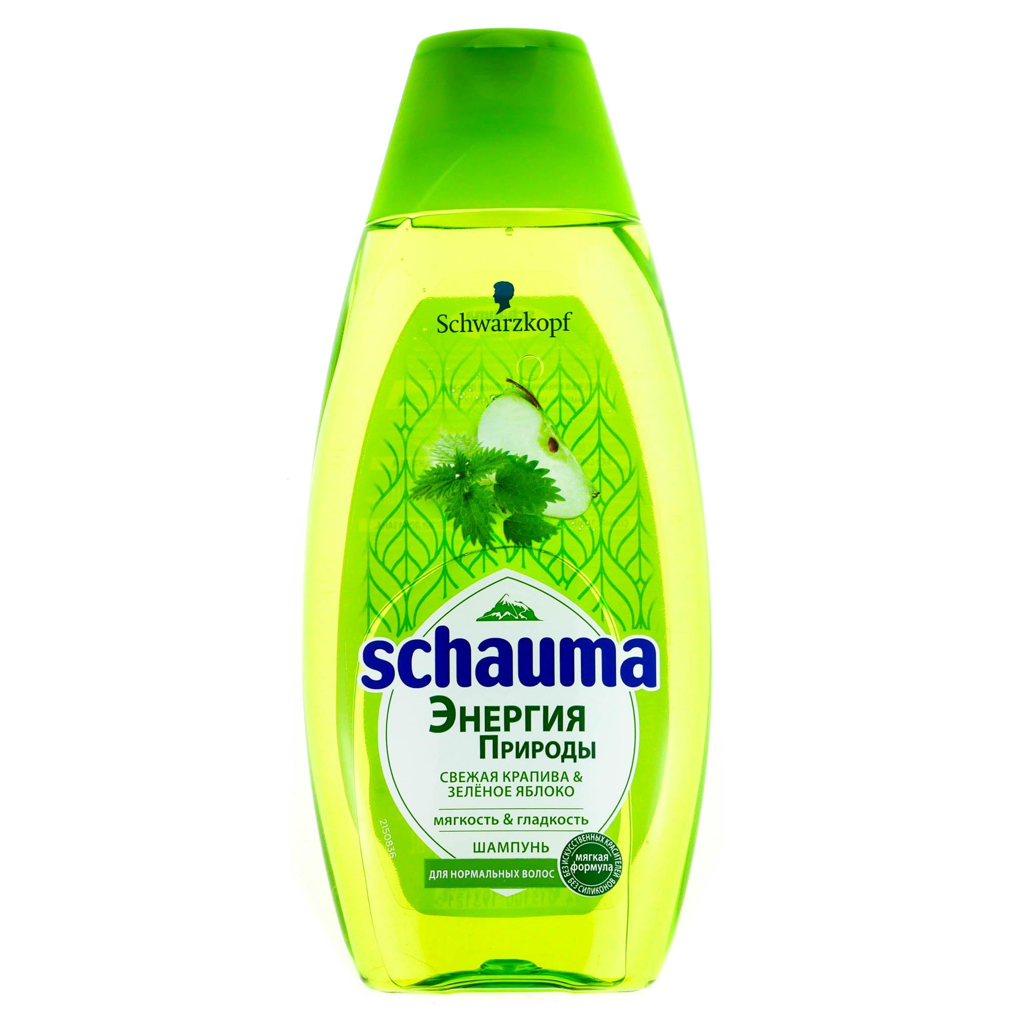 Шампунь Шаума Энергия Природы Свежая Крапива & Зеленое Яблоко (Для нормальных волос) 400 мл