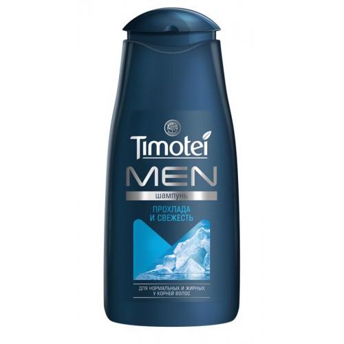 Шампунь Тимотей Men Прохлада и Свежесть для нормальных и жирных у корней волос 400 мл