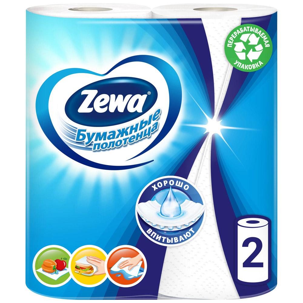 Бумажные полотенца Zewa Плюс 2 слоя 2 рулона