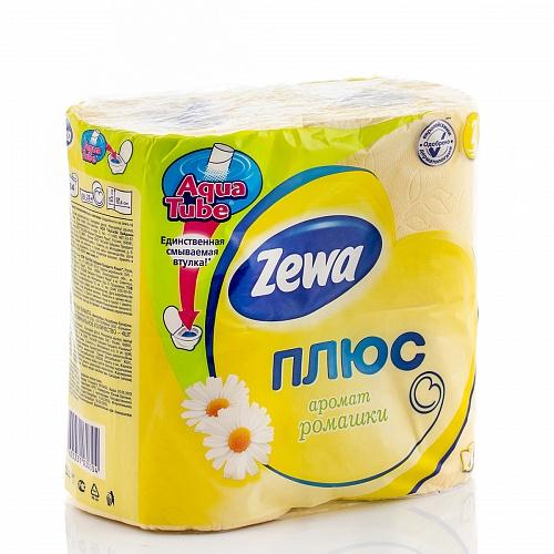 Туалетная бумага Zewa Плюс Желтая ромашка 2 слоя 4 рулона