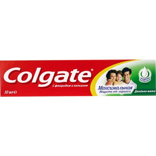 Зубная паста Колгейт Максимальная защита от кариеса Двойная мята 50мл